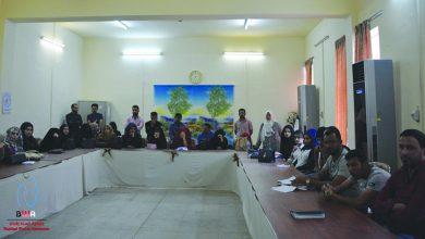 صورة مركز المعتصم للتدريب المهني التابع لوزارة العمل والشؤون الاجتماعية من ضمن مشروع (إمكانيات الشباب كبناة…