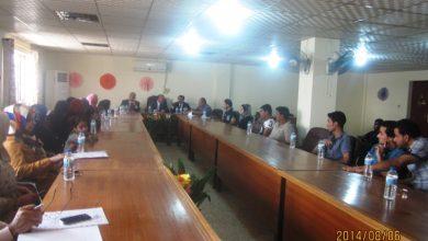صورة أجتماع في قاعة المجلس البلدي لقاطع 9 نيسان