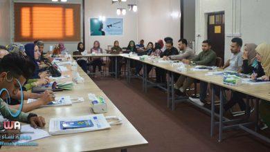 صورة اجتماع للشباب المتطوعين مع السلطات المحلية