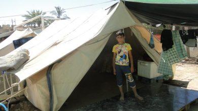 صورة كادر مشروع تمهيد الطريق للمصالحة بين النازحين يزور احد مخيمات النازحين ببغداد