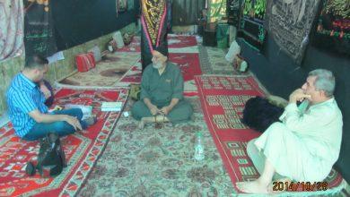 صورة زار ممثل عن مركز الاستماع والارشاد الاجتماعي والقانوني في حي النصر حسينية الشيخ ابو فاضل المحمداوي