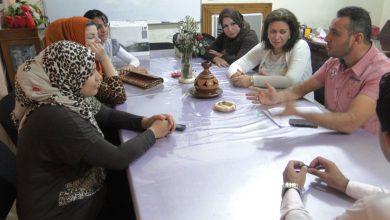 صورة اجتماع خاص مع اعضاء وحدة المتابعة والتقييم