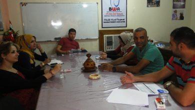 صورة عقدت لجنة الانقاذ الدولية IRC في 27/8/2014 مقر جمعية نساء بغداد اجتماع
