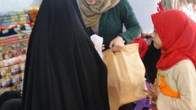 صورة توزيع صندوق الاحتياجات الخاصة للنساء
