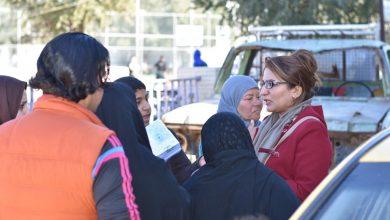صورة جمعية نساء بغداد توزع مساعدات إنسانية للعوائل النازحة شمالي بغداد