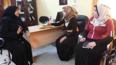 صورة حملة المدافعة لمناهضة الزواج خارج المحكمة في مدينة الصدر