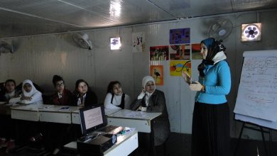 Photo of Workshop woman who explained the topic of violence on the basis of gender empowerment