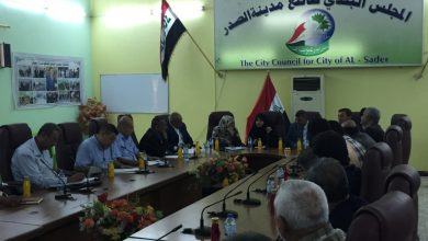 Photo of Al-Sadr LC staff participates in a meeting of Sadr City Municipal Council