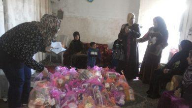 صورة جمعية نساء بغداد توزع مساعدات إنسانية للعوائل النازحة ببغداد