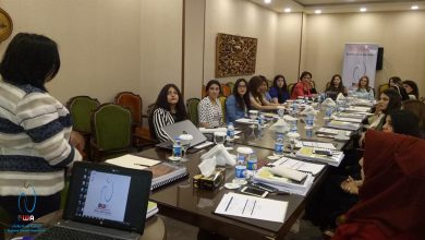 صورة افتتاح جدول اعمال الدورة التدربيبة حول القيادة النسائية وحقوق النساء