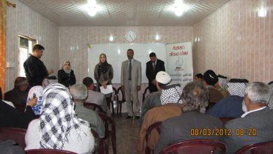 صورة افتتا ح مركز الاستماع والارشاد الاجتماعي والقانوني في حي النصر