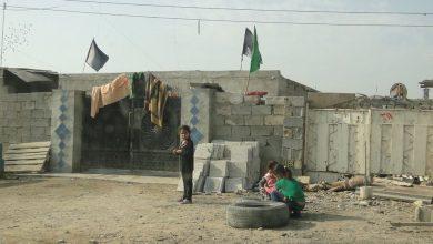 صورة زار فريق حملة شاركنا همومك احد العوائل التي نزحت من منطقة الفلوجة وسكنت في الامين