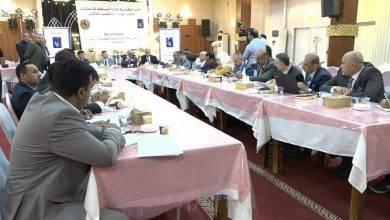 صورة جلسة حوارية حول قانون انتخابات مجالس المحافظات والاقضية