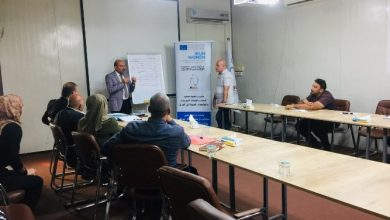 صورة مناقشة إعتماد موازنات مستجيبة للنوع الإجتماعي في وزارة العمل والشؤون الإجتماعية