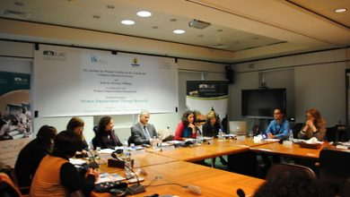 صورة اجتماع المائدة المستديرة الاقليمية حول النوع الاجتماعي